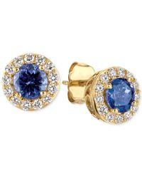 Le Vian | Metallic Tanzanite (1 Ct. T.w.) And Diamond (1/3 Ct. T.w.) Halo Stud Earrings In 14k Gold | Lyst