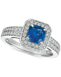 Le Vian - Blue Sapphire (1 Ct. T.w.) And Diamond (1/2 Ct. T.w.) Ring In 14k White Gold - Lyst