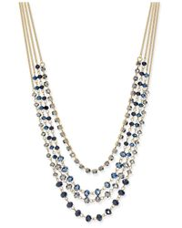 INC International Concepts | Metallic Gold-tone Beaded Multi-layer Necklace | Lyst