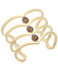 INC International Concepts   Metallic Gold-tone Pave Teardrop Wide Cuff Bracelet, Only At Macy's   Lyst