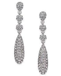 Danori   Metallic Silver-tone Pavé Crystal Drop Earrings   Lyst