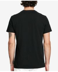 Denim & Supply Ralph Lauren - Black Men's Graphic-print Cotton T-shirt for Men - Lyst