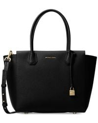 Michael Kors | Black Mercer Large Satchel | Lyst