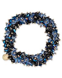 Charter Club - Blue After Party Beaded Stretch Bracelet - Lyst
