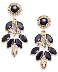 Vera Bradley   Metallic Gold-tone Crystal Glitz Chandelier Earrings   Lyst