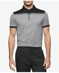 Calvin Klein | Black Men's Slim-fit Colorblocked Jacquard Polo for Men | Lyst