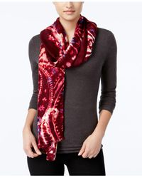 INC International Concepts | Red Bohemian Paisley Scarf, Only At Macy's | Lyst
