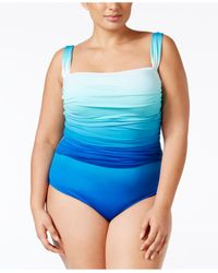 Bleu Rod Beattie - Blue Plus Size Ombré Underwire One-piece Swimsuit - Lyst