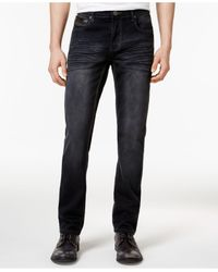 INC International Concepts Black Jeans, Mynx Slim Straight Jeans for men