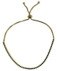 Giani Bernini | Metallic Black Cubic Zirconia Slider Bracelet In 18k Gold-plated Sterling Silver | Lyst