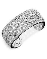 Danori | Metallic Bracelet, Crystal Accent Floral Cuff | Lyst