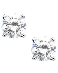 Giani Bernini | Metallic Sterling Silver Earrings, Cubic Zirconia Stud (2 Ct. T.w.) | Lyst