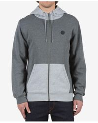 Volcom | Gray Men's Single Stone Colorblocked Full-zip Hoodie for Men | Lyst
