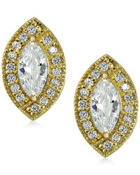 Giani Bernini - Metallic 18k Gold-plated Sterling Silver Cubic Zirconia Stud Earrings - Lyst