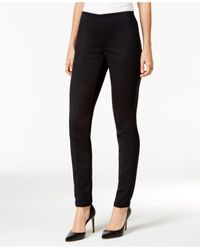 Style & Co. - Black Petite Pull-on Seamed Skinny Pants - Lyst
