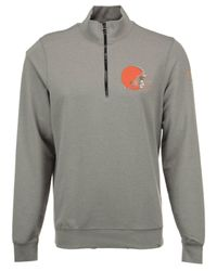 47 Brand Gray Cleveland Browns Forward Peak Quarter-zip Pullover for men