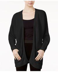 Kensie   Black Long-sleeve Cardigan   Lyst