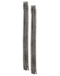 INC International Concepts | Gray M. Haskell For Rhinestone Linear Tassel Earrings, Only At Macy's | Lyst