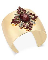 INC International Concepts | Metallic Gold-tone Crystal Cluster Cuff Bracelet | Lyst
