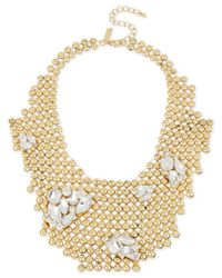 INC International Concepts | Metallic M. Haskell For Gold-tone Rhinestone Cluster Bubble Bib Necklace, Only At Macy's | Lyst