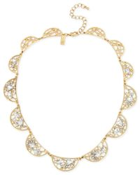 INC International Concepts | Metallic M. Haskell For Gold-tone Crystal Web Necklace, Only At Macy's | Lyst