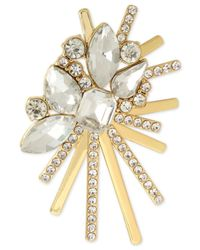 INC International Concepts | Metallic Gold-tone Crystal Cluster Burst Pin | Lyst