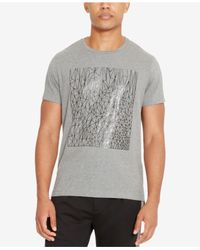 Kenneth Cole Reaction - Gray Men's Reflective Sketch-print T-shirt for Men - Lyst