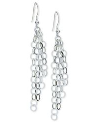 Giani Bernini | Metallic Multi-ring Cascade Drop Earrings In Sterling Silver, | Lyst