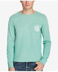 Polo Ralph Lauren - Green Long-sleeve Pima Cotton Tee for Men - Lyst