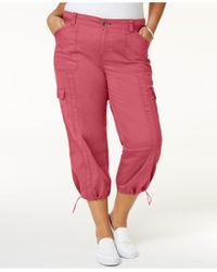 Style & Co. | Red Plus Size Capri Cargo Pants | Lyst