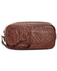 Patricia Nash | Brown Burnished Tooled Lace Remini Cosmetics Case | Lyst