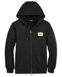 Volcom | Black Men's Zip-up Hoodie With Faux-sherpa Lining for Men | Lyst