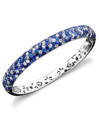 Effy Collection | Blue Saph Splash By Effy Shades Of Sapphire Bangle Bracelet (10-3/8 Ct. T.w.) In Sterling Silver | Lyst