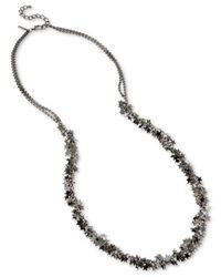 INC International Concepts | Gray Hematite-tone Multi-star Long Statement Necklace | Lyst