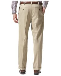 Dockers Natural Relaxed Fit Comfort Khaki Pleated Pants for men