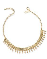 INC International Concepts | Metallic Gold-tone Beaded Mesh Choker Necklace | Lyst