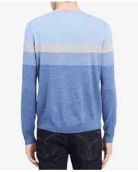 CALVIN KLEIN 205W39NYC - Blue Men's Fancy Stripe Sweater for Men - Lyst