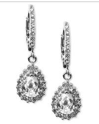 Givenchy | Metallic Silver-tone Drop Earrings | Lyst