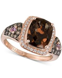 Le Vian | Metallic Smoky Quartz (2-1/2 Ct. T.w.), Diamond (1/3 Ct. T.w.) And Pink Sapphire Accent Ring In 14k Rose Gold | Lyst