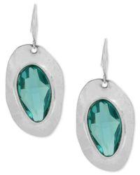 Robert Lee Morris | Metallic Silver-tone Blue Stone Sculptural Drop Earrings | Lyst
