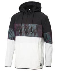 PUMA   Black Men's Colorblocked Quarter-zip Jacket for Men   Lyst