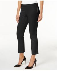 Alfani | Black Cropped Side-zip Pants | Lyst