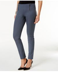 Alfani - Gray Double-zip Skinny Pants - Lyst