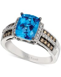 Le Vian - Signity Blue Topaz (2 Ct. T.w.) And Diamond (1/4 Ct. T.w.) Ring In 14k White Gold - Lyst