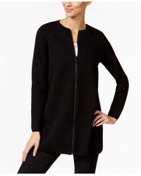 Alfani | Black Petite Textured Swing Jacket | Lyst