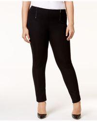 Alfani | Black Plus Size Pull-on Skinny Pants | Lyst