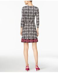 INC International Concepts - Black Printed Wrap Dress - Lyst
