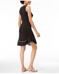 Maison Jules - Black Dot-print A-line Dress, Created For Macy's - Lyst