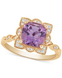 Macy's Purple Amethyst (2 Ct. T.w.) & Diamond (1/10 Ct. T.w.) Ring In 14k Gold