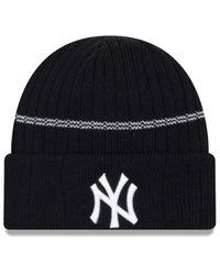 KTZ Blue New York Yankees Sport Knit Hat for men